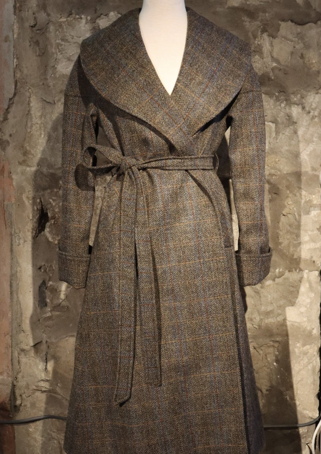 Cora Coat in Harris Tweed handmade in Scotland