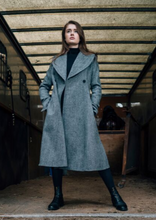 Load image into Gallery viewer, Harris Tweed Edith Coat Grey Herringbone