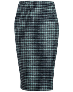 Harris Tweed Morven Skirt Black Peppermint