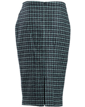 Load image into Gallery viewer, Harris Tweed Morven Skirt Black Peppermint