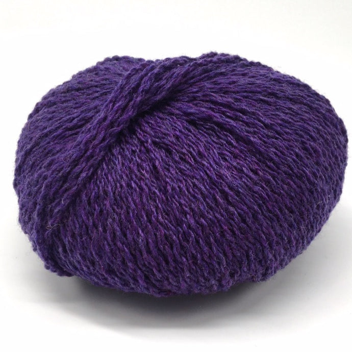 Amethyst deep purple Scottish knitting wool