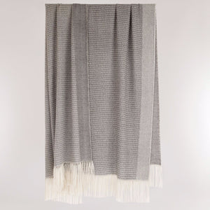 Pure British Alpaca throw woven in Scotland