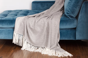 Alpaca Throw Natural Grey