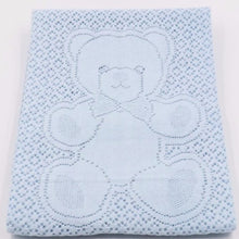 Load image into Gallery viewer, Scottish Baby Blanket Blue Teddy