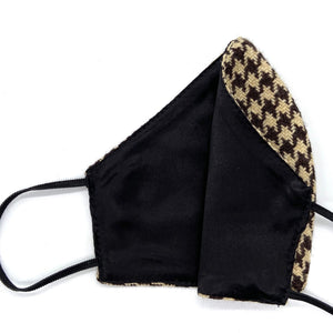 Face Mask, Brown houndstooth