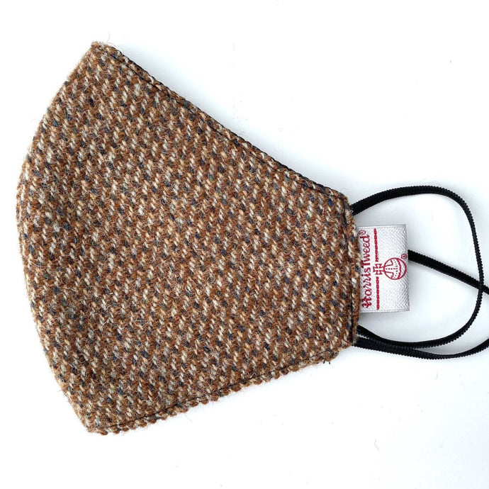 Brown Trout Harris Tweed Face Mask
