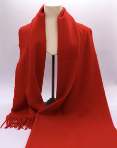 Cardinal red cashmere stole
