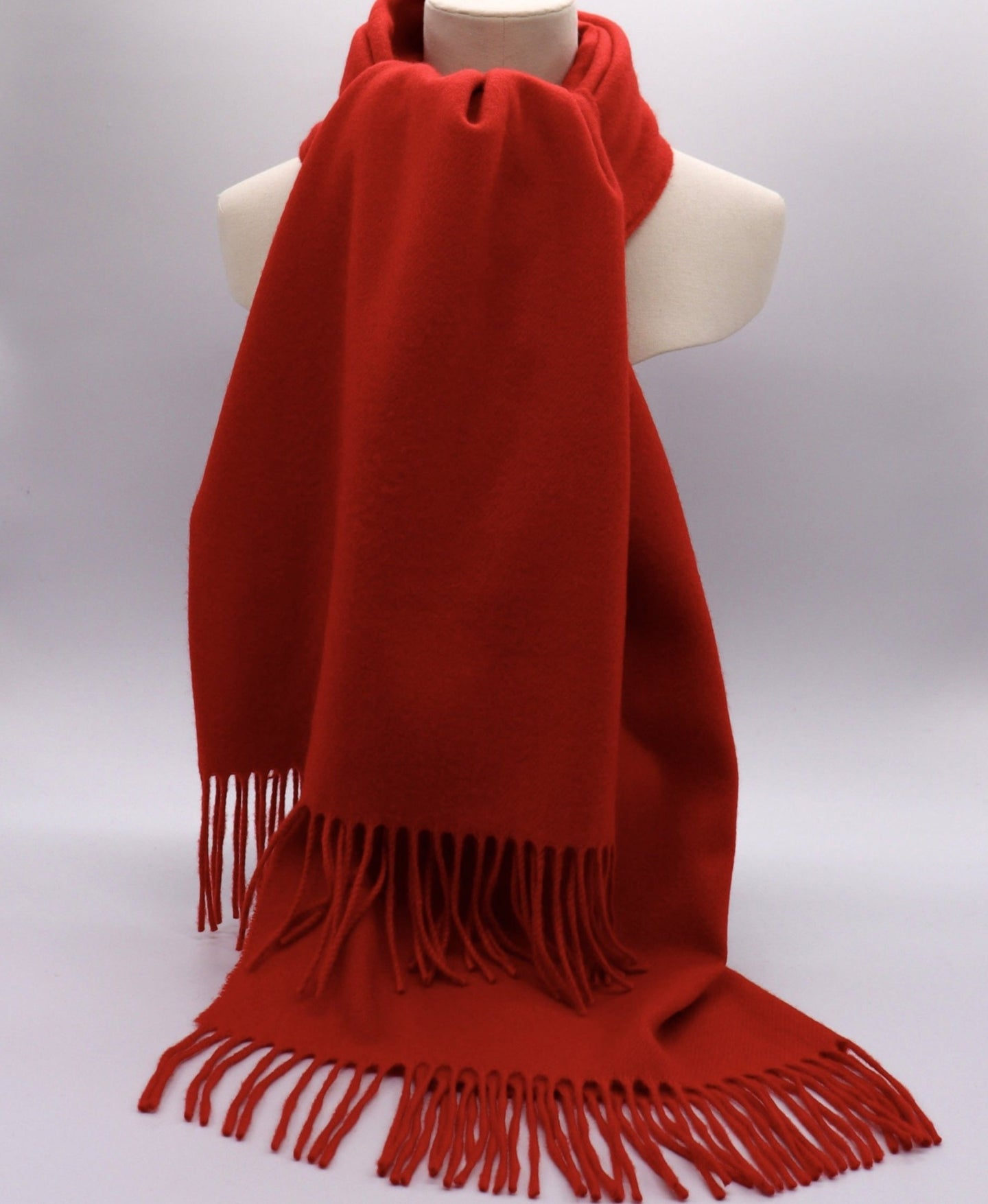 red cashmere stole