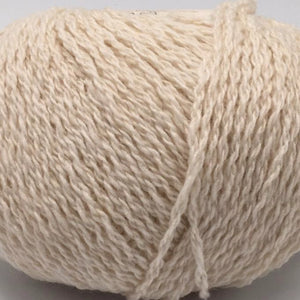 Scottish knitting wool in Crowide cream colour.