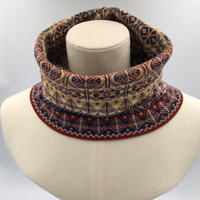 Load image into Gallery viewer, Fair Isle luxury infinity scarf Bakka