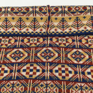 Fair Isle geometric patterned luxury cowl