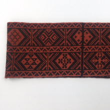 Load image into Gallery viewer, Headband, Fair Isle Black and Red