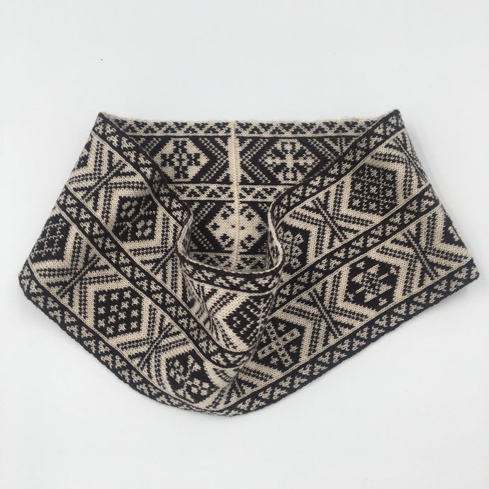 Fair Isle Black and White headband