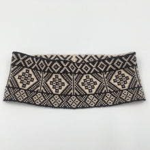 Load image into Gallery viewer, Fair Isle Black and White thick headband