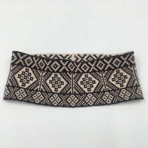 Fair Isle Black and White thick headband