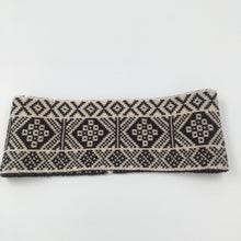Load image into Gallery viewer, Headband, Fair Isle Black and White, thick