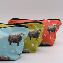Load image into Gallery viewer, Highland Cow Make Up bags