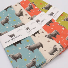 Load image into Gallery viewer, Highland Cow Tea Towels