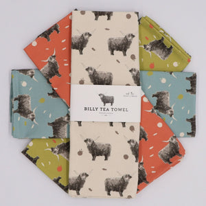 highland Cow tea towels