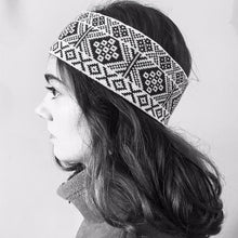 Load image into Gallery viewer, Headband Black and White