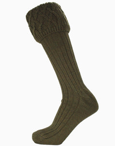 Dark Olive Ladies Rannoch Sock