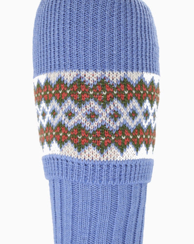 Ladies Bluebell Fair Isle Sock