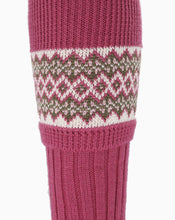 Load image into Gallery viewer, Lady Fair Isle Sock Pink