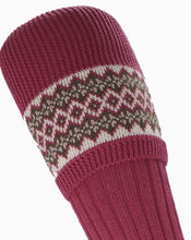 Load image into Gallery viewer, Socks Lady FairIsle Pink