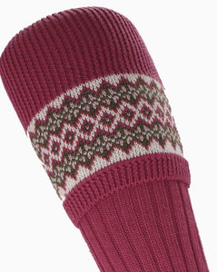 Socks Lady FairIsle Pink