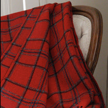 Load image into Gallery viewer, red merino wool throw