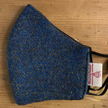 Load image into Gallery viewer, Harris Tweed face mask peacock blue
