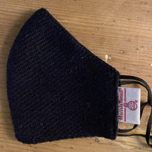Load image into Gallery viewer, Face Mask Harris Tweed black