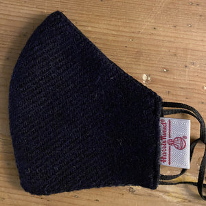 Face Mask Harris Tweed black