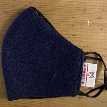 Load image into Gallery viewer, Face Mask Harris Tweed deep blue