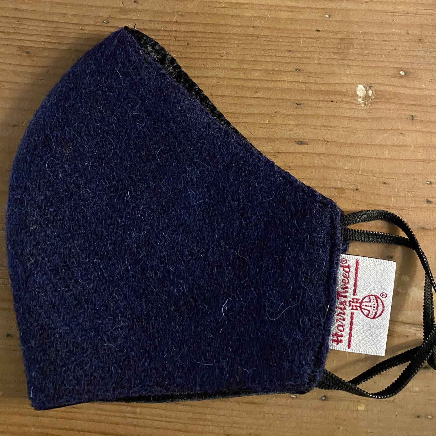 Face Mask Harris Tweed deep blue