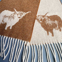 Load image into Gallery viewer, Highland Cow Scarf