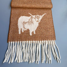 Load image into Gallery viewer, Highland Cow Merino Wool scarf