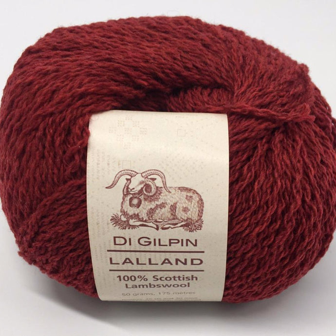 Scottish knitting wool, Di Gilpin Ruby Red