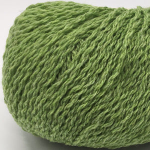 Spring Shoots bright green Scottish knitting wool