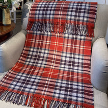 Load image into Gallery viewer, Red plaid cashmere throw