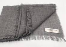 Load image into Gallery viewer, Lightweight fine cashmere scarf in grey  Edit alt text