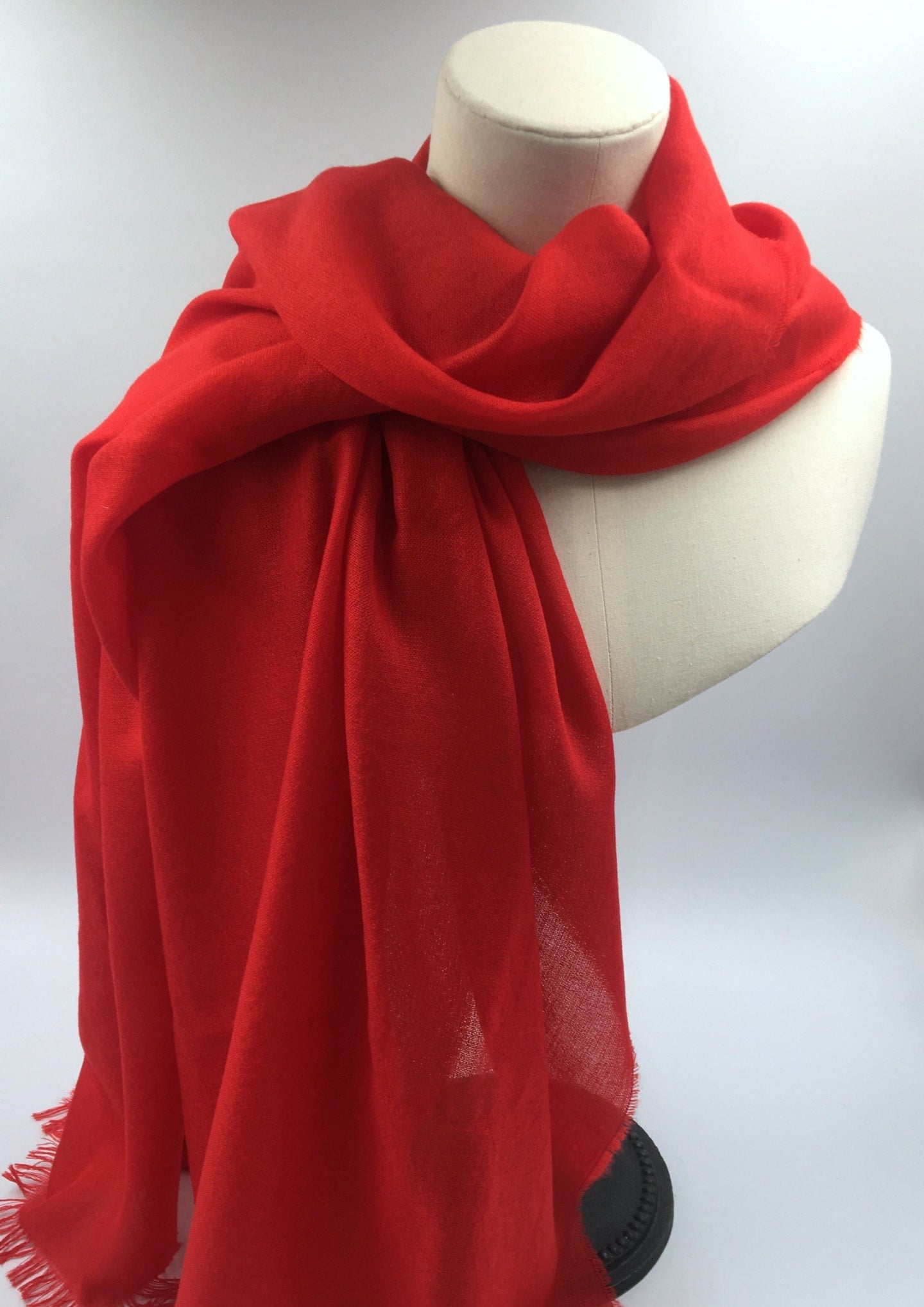 red cashmere summer stole
