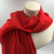Load image into Gallery viewer, red cashmere summer stole