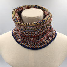 Load image into Gallery viewer, Fair Isle infinity scarf, heritage 2