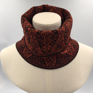 Red and Black luxury neck cowl