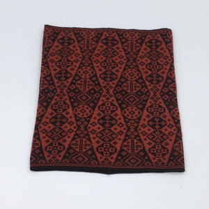 Luxury Fair Isle red and black neck cowl
