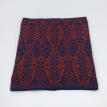 Load image into Gallery viewer, Red and blue luxury fair isle neck cowl