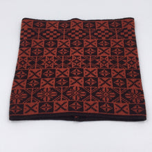 Load image into Gallery viewer, Black and red Bakka Fair Isle Cowl