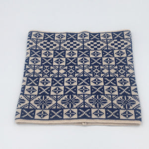 Blue and white saltire Fair Isle Cowl