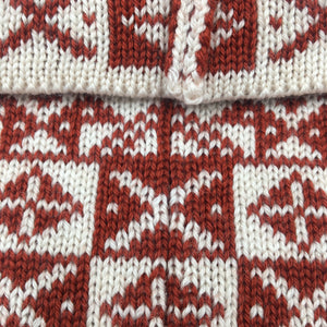 Fair Isle Cowl, Red and White Saltire